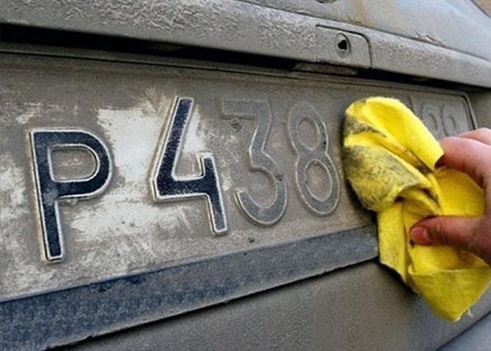 Штраф за грязные и нечитаемые номера